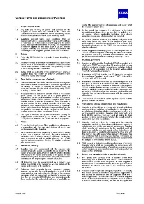 Preview image of General Terms and Conditions of Purchase