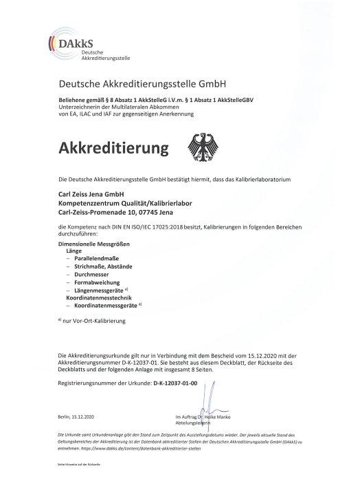 DAkkS-Akkreditierung Kalibrierlaboratorium