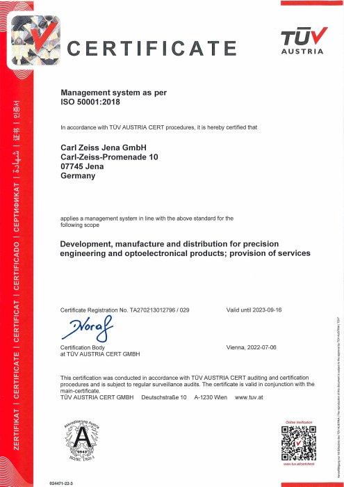 Energiemanagementsystem Carl Zeiss Jena GmbH