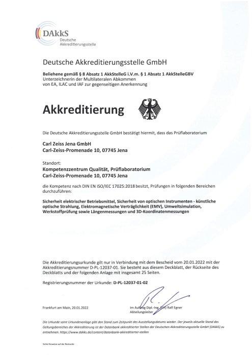 DAkkS-Akkreditierung Prüflabor